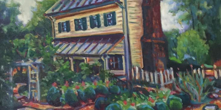 Painting by Kelly Mattox of the Miller Claytor House